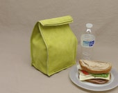 Leather Lunch Bag - Lime Green -    It's fun, it's leather, it's a great conversation starter.