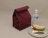 Leather Lunch Bag - Maroon -    It's fun, it's leather, it's a great conversation starter.