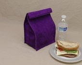 Leather Lunch Bag - Purple - It's fun, it's leather, it's a great conversation starter.