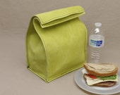 Large Leather Lunch Bag - Lime Green - It's fun, it's leather, it's a great conversation starter