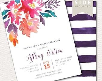 Bridal Brunch Invitation, Bridal Shower Invitation, Bridal Shower Invite, Bridal Shower Printable, Floral Bridal Shower, Watercolor Flowers