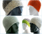 CROCHET PATTERNS: The Guy Collection of 3 Hat Patterns for Men