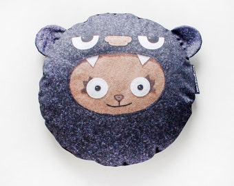 Bambak cushion, big decorative pillow, for kids, for teens, teddybear, kawaii, original gift, handmande in Europe, crazy creature