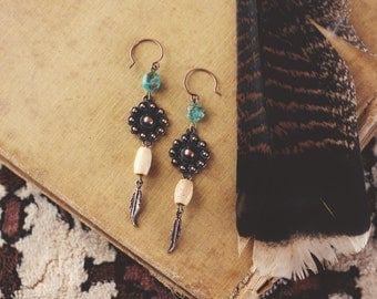 Southwestern Earthy Dangle Earrings