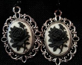 Rose Cameo Earrings