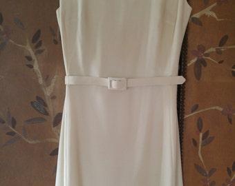 70s R & K Originals Ivory and diamante evening dress