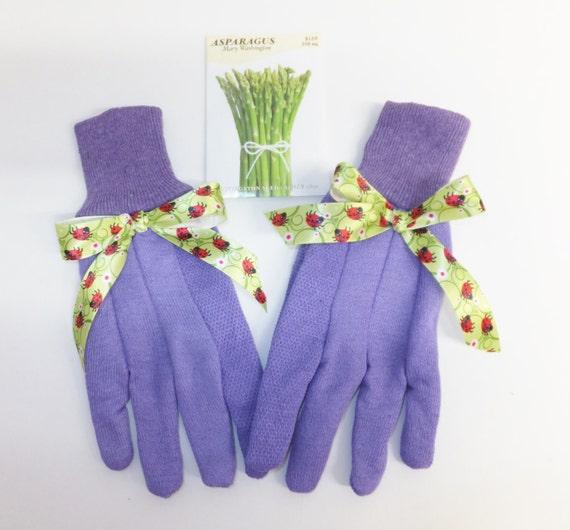 Ladybug Garden Gloves Womens Gardening Gloves