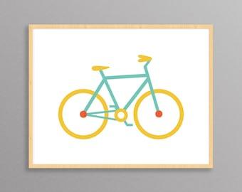 Bicycle: a modern design print // 8.5x11 or 13x19