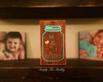 Mason Jar wedding sign