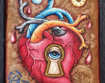 Secrets of the Heart anatomical heart painting