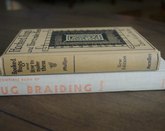 Two Vintage Books About Hooked and Braided Rugs, 1930 and 1957