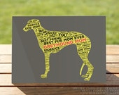 Greyhound Mom Greeting Card | Mother's Day Fur Mom | A7 5x7 Folded - Blank Inside - Wholesale Available