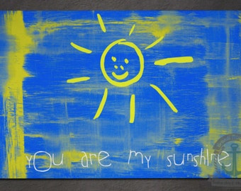 Placemat - You are my Sunshine | Uplifting Sun Inspirational Decor | Anti Skid/Non Slip Fabric Top Rubber Backed Awesomeness