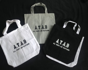 A.T.A.B Canvas Tote All Terfs Are Bastards