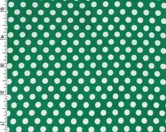 Spearmint Green Kiss Dots from Michael Miller