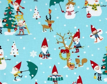 Gnomes for the Holidays on Blue from Miller Miller's Holiday Collection
