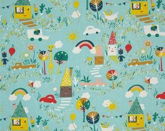 Happy Town Organic Fabric 1/2 yd Cut