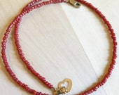 Coral necklace in 16' length for Anna