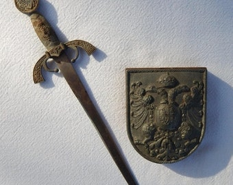Sale Toledo Spain Sword Letter Opener & Paperweight Office Accessories Collectibles