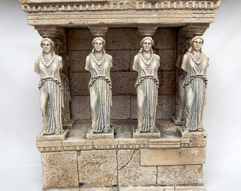 Porch of the Maidens Greek Statue Handmade Greece Museum Copy Ergani Athena Art Home Decor