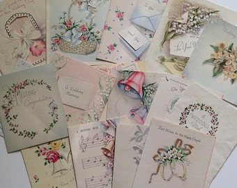 Lot of 16 Vintage Wedding Cards from the 1940s