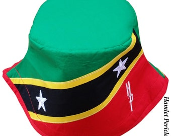 Saint Kitts and Nevis Unisex Bucket Hat | Saint Kitts and Nevis Flag | Country Hat | Caribbean | Island Country by HamletPericles | HP121615