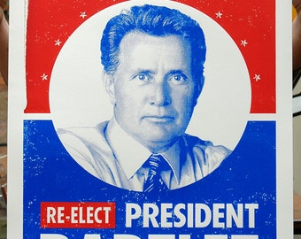 Bartlet For President The West Wing Hand Pulled Limited Edition Screen Print