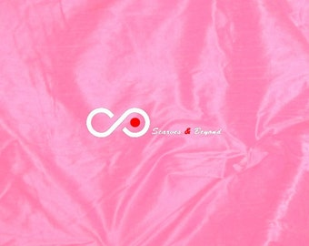 Silk Dupioni Fabric - Light pink D307 - Section Pink - 1 yard 100% Silk Dupion