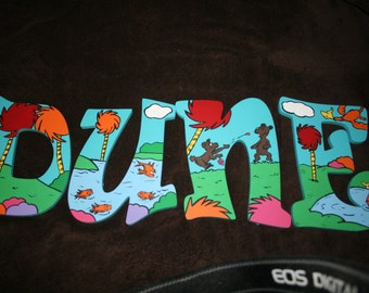 The Lorax Inspired Hand Painted Letters ***MESSAGE BEFORE ORDERING***