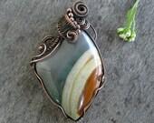Desert Jasper Copper Pendant