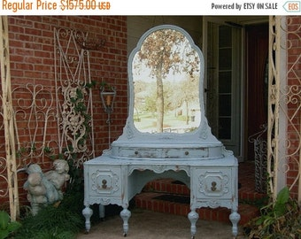 15% OFF GORGEOUS VANITY In Your Color! Order Your Own Antique Vanity - Shabby Chic Makeup Vanity - Custom Painted Vanity