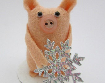Susie the Snowflake Pig - Christmas Pig - Pig Gift - Christmas Decoration