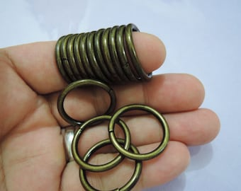 Antique Brass Very Large Open Jump Rings Finding - 10 pcs  25mm