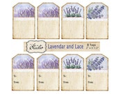 Lavender and Lace Gift Tags, Printable Gift Tags, Instant Download, Digital Gift Tags, craft supplies, DIY Tags,