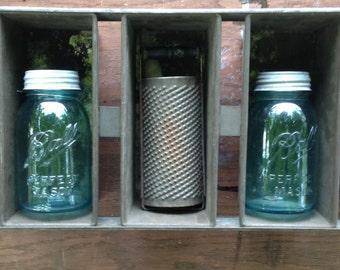 Vintage commercial bread pans • indistrial bread pan shelf unit • steampunk shelves • steel bin shelves
