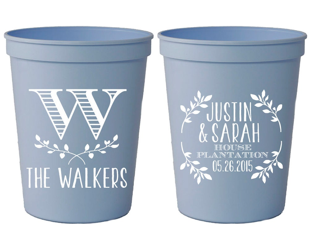 Wedding Favor Cups Personalized Wedding Cups Monogrammed