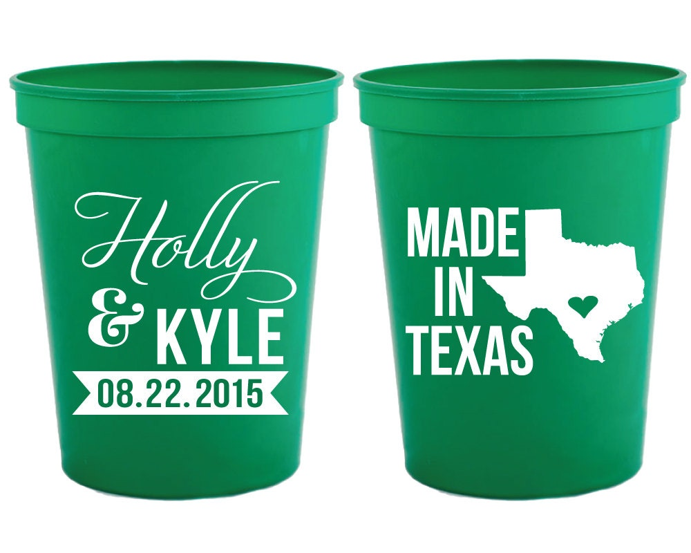 State Wedding Cups Made In Texas Party Cups Party Cups