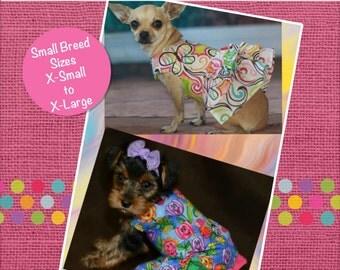 Poppy's Peekaboo Dress for Small Dog Breeds PDF Pattern sizes XS to XL