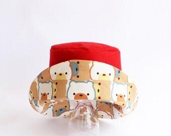 WITTY HAT Boy Girl Hat or Rain Hat pattern Pdf sewing, Bucket Hat, Children Toddler Preemie Newborn 3 6 9 12 18 m 1 2 3 4 5 6 yrs Instant