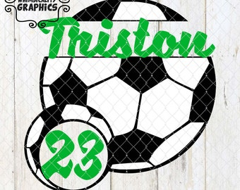 Soccer Ball With Small Soccer Ball For Monogram with SVG, DXF, PNG Commercial & Personal Use