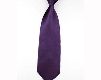 Mens Wedding Tie Plum Grape
