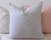 Gray modern geometric maze decorative pillow cover