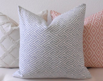 Gray modern geometric maze decorative pillow cover