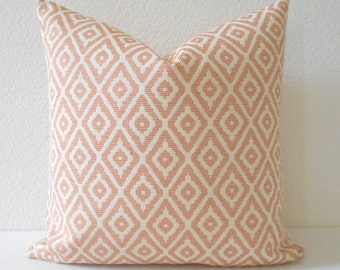 Pink coral diamond geometric decorative pillow cover