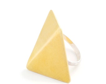 Origami ring - Geometric ring - Gold ring - Sterling silver ring - Rings for women - RSB 022