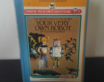 Vintage Choose Your Own Adventure Book - Your Very Own Robot - 1983
