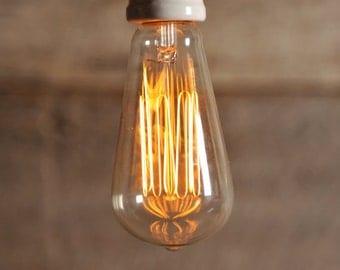 30w/60w Edison bulb. For 120v and 240v use.