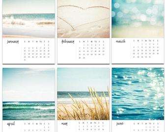 2017 calendar nautical decor beach photography calendar 2017 4x6 5x7 ocean calendar with easel 2017 calender with stand mini desk calendar