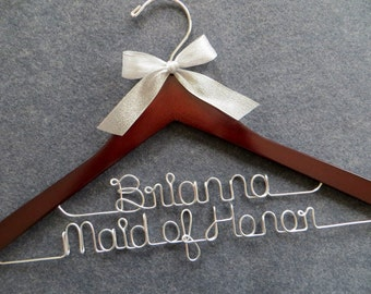 2 Line Wedding Hanger, Personalized Hanger, Two Line Wedding Hanger, Date Hanger, Bridesmaid Gift Idea, Wedding Coat Hanger, Engagement Gift