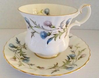 """Beautiful Royal Albert """"Brigadoon"""" Vintage Teacup"""